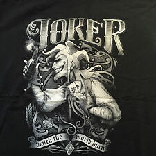 BATMAN THE JOKER T Shirt. Watch The World Burn. Size XL Limited Edition
