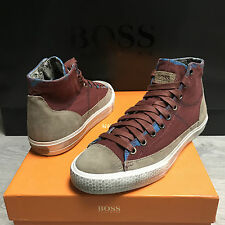 BNIB Mens HUGO BOSS High Top trainers sneakers UK 5 Eu 39 RRP £139 100% Genuine
