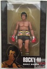 "ROCKY BALBOA ""black trunks"" ROCKY III Neca 40th Anniversary 2017 7"" inch FIGURE"