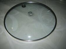 Glasdeckel mit Metallrand 12 cm ohne Griff