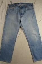 USA Made Levi 505 Straight Leg Faded Denim Jeans Tag Size 38x32 Measure 36x30