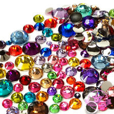 200 pcs 2mm - 6mm Resin round Rhinestones Flat back Mix COLOR & SIZE