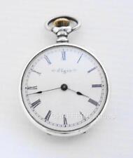 Beautiful ELGIN Silver Hunter Pocket Watch 1900 with Keystone case -WORKING