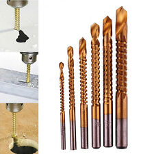 6PCS HSS HIGH SPEED STEEL TITANIUM COATED DRILL BIT SET 3/4/5/6/6.5/8mm