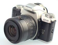 PENTAX ZX-50 35mm SLR Film Camera + 35-80mm Zoom Lens
