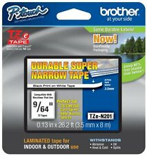 Brother International TZEN201 Tzen201 .13in Black On White Labl Super Narrow For