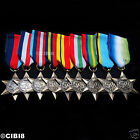 9x CAMPAIGN STAR MEDAL GROUP SET FULL AWARD COLLECTION RAF NAVY ARMY SAS REPRO