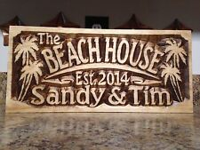 Personalized LAKE-HOUSE or BEACH-HOUSE Custom Wedding Gift Wood Plaque