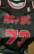 Angus Young Signed AC/DC Autograph Chicago Bulls Jersey acdc COA Proof