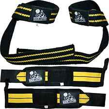 Lifting Straps Wrist Wraps 2 Pair Bundle One Size Gym Weightlifting Accessories