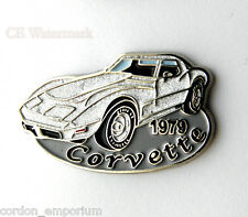 CHEVROLET AUTOMOBILE CHEVY CORVETTE 1979 AUTO LAPEL PIN BADGE 1 INCH