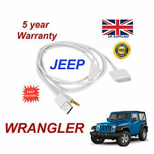 JEEP WRANGLER MULTIMEDIA ADAPTER iPhone 3GS 4 4S iPod USB 3.5mm Aux Cable white