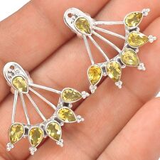 Citrine 925 Sterling Silver Earrings Jewelry SE122543