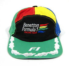 EARLY 90S VTG UNITED COLORS OF BENETTON PINWHEEL HAT RACING F1 NYC 1992 POLO RAP