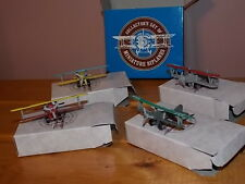 Collectors set of 4 Miniature Biplanes Airplanes Die Cast Boeing Kaydet Jenny