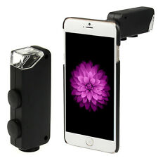 LED Light 60-100X Zoom Microscope Phone Lens+Case For  iPhone 6s Plus/6 Plus