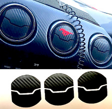 2015 2016 2017 Ford Mustang Interior CARBON FIBER AC Vent Cover Overlay Decal