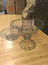 Antique French Country Chateau Wire Frame Urn Outdoor Planters Set of 6!!
