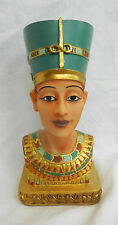 Full Colour Bust of  Nefertiti / Nefertari - Egyptian Interest - BNIB