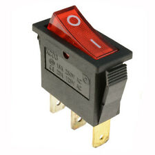Red Light Waterproof On/Off Rectangle Rocker Switch With Cover Car Dashboard