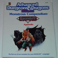 AD&D 2nd Edition Monstrous Compendium Ravenloft Appendix