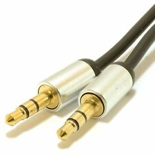 1.5M 3.5mm Conector Jack Cable Aux Audio lead para para auriculares/MP3/Ipod/Coche de oro