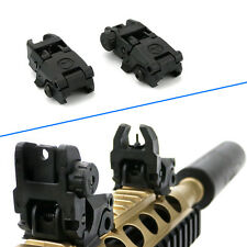 Useful Flip Up Front Rear Iron Sight Rapid Transition Fr A2 Mil Spec Low Profile