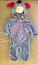 Disney Eyore (Winnie the Pooh) Costume Size 24 months Two Zippers in Front