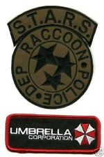 ZOMBIE OUTBREAK RESIDENT EVIL S☣T☣A☣R☣S☣ RACOON CITY POLICE 2-PATCH INSIGNIA SET