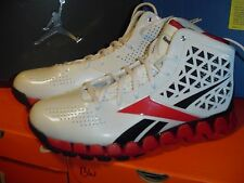 New Reebok Zig Slash Zig Tech Men's Basketball Shoes White/Red/Black Size 10 NIB