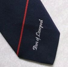 PORT OF LIVERPOOL TIE VINTAGE CLUB ASSOCIATION 1980s 1990s CORPORATE NAVY RED