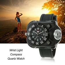Tactical LED 1500Lm Flashlight Rechargeable Wrist Watch Flashlight Light Torch