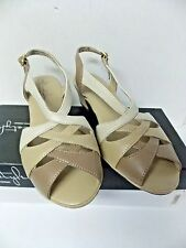 Hush Puppies Vista Soft Style Sling Back Bone /Tan Women's Shoes sz 7M
