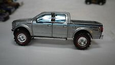 2014 Hot Wheels Silver 15 Ford F150 4X4 Truck Custom Real Riders