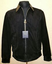 NEW ZILLI MEN'S SUEDE LEATHER / PYTHON JACKET SIZE: S