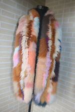 New Braid Genuine  fox fur scarf /cape/ collar / wrap multi-color shawl