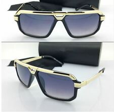Mens or Women CLASSIC VINTAGE RETRO AVIATOR Style SUN GLASSES Black & Gold Frame