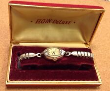 Vintage 1951 Elgin Ladies watch 10kt gold filled in box, expandable band