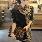 High Quality Lady's Long Soft Wrap Shawl Silk Leopard Chiffon Scarf Shawl Women