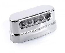 12V LED Kennzeichenbeleuchtung ABS Chrom für Harley Twin Cam Motorrad