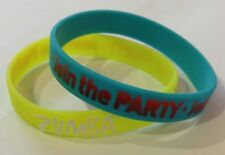 Zumba Fitness Lift Off Rubber Bracelets! 4 Different 2 Packs! SHIPS FAST!