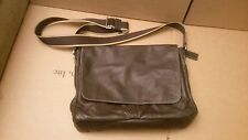 COACH F70556 HERITAGE WEB LEATHER MESSENGER MENS Dark Brown/Tan