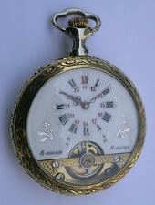 ANTIQUE HEBDOMAS 8 DAYS MEN'S POCKET WATCH SWISS 1900's
