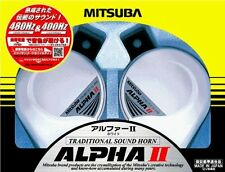 New MITSUBA Alpha II White Car Horn Traditional Sound Horn MBW-2E 17W JAPAN F/S