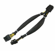 CB-PCIE8-Y 8Pin PCI-E (F) to Dual 8Pin PCI-E (F) Split Cable, Sleeved, 8Inch