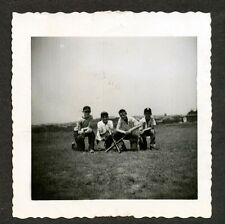 C. 1955 Four Chelsea Massachusetts Boys Playing Baseball