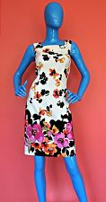 Womens Summer Sheath Fitted Dress Size 8 S M Floral Slimming Floral Sleeveless