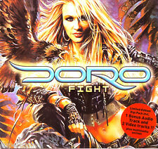 DORO Pesch WARLOCK German Import CD FIGHT  ENHANCHED + 20 Page Booklet NEW