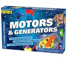 Thames & Kosmos MOTORS and GENERATORS SET Educational SCIENCE KIT 25 Experiments
