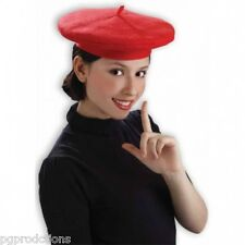 Deluxe RED FRENCH BERET HAT Jumbo Costume Cap Artist Adult Size Clown Funny Top